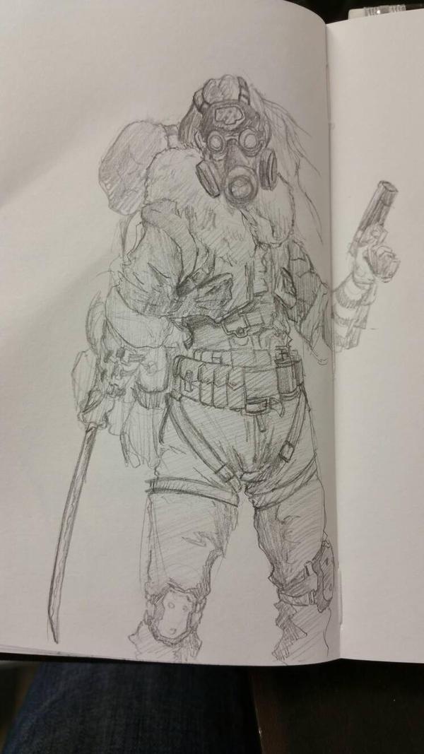 Post apocalypse sketch by davidkimy