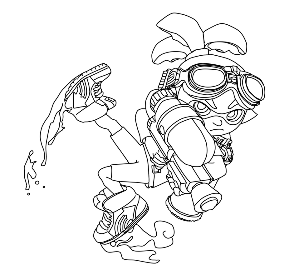 Coloring Pages Splatoon 1065x750 Boy