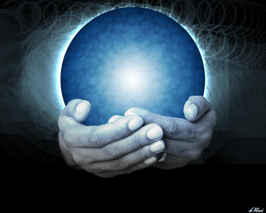 a magic crystal ball by mai994