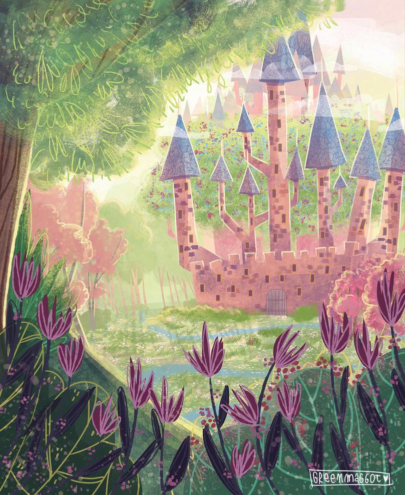Castle of the King Storyteller by greenmaggot
