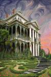 The Haunted Mansion at Sunrise