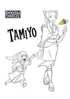 MTG - Tamiyo the Teacher B/W by PolishTamales