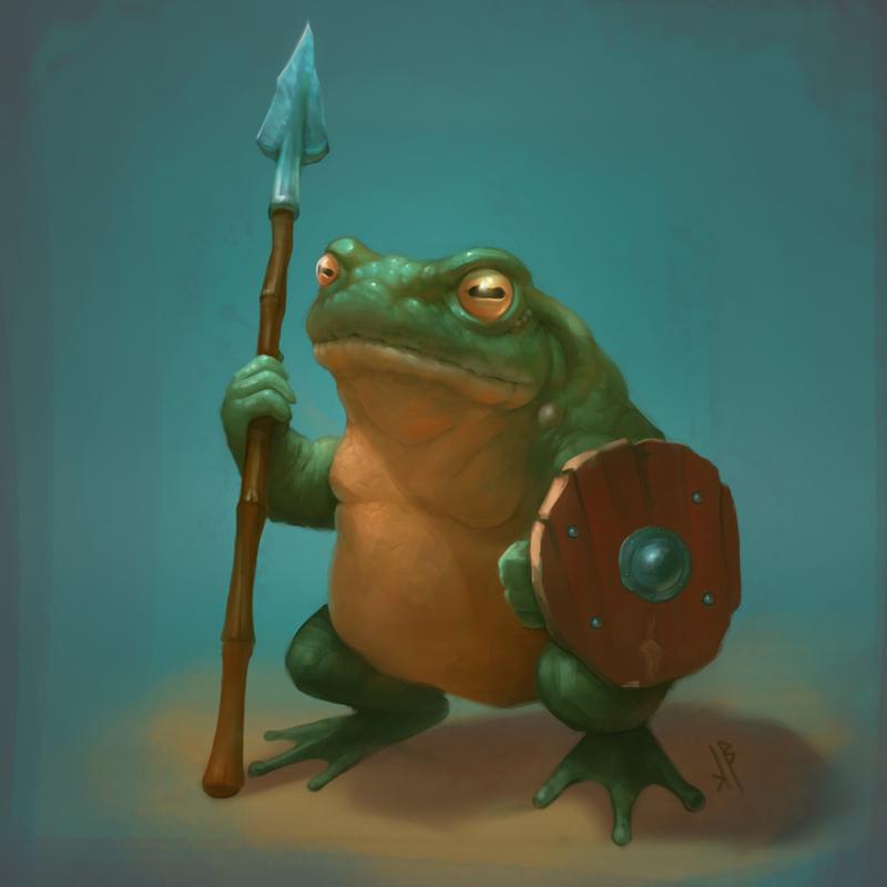 Toad warrior by nicheltoten
