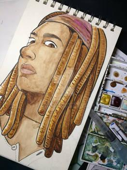 Fanart Portrait : Michonne from The Walking Dead