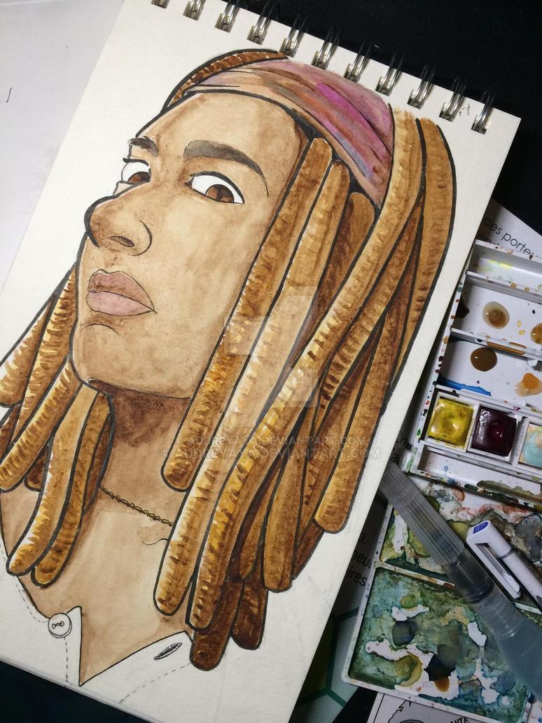 Fanart Portrait : Michonne from The Walking Dead by AudreyAya