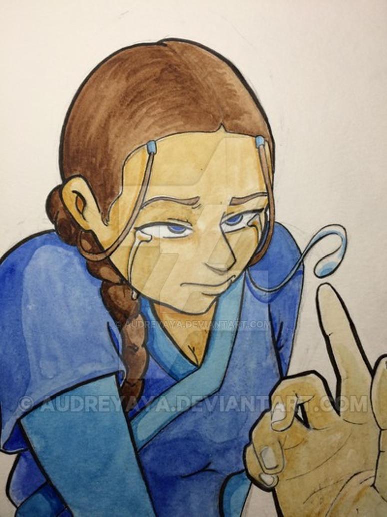 Fanart portrait : Katara, dry your tears. by AudreyAya