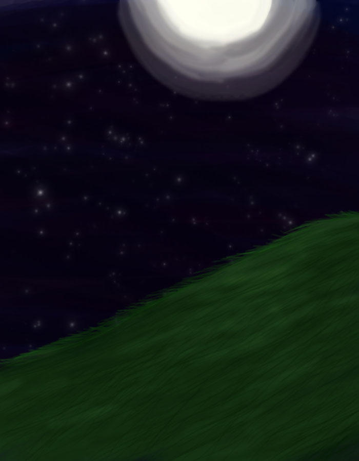 Moonlit Night -background- by theTrickyBunny