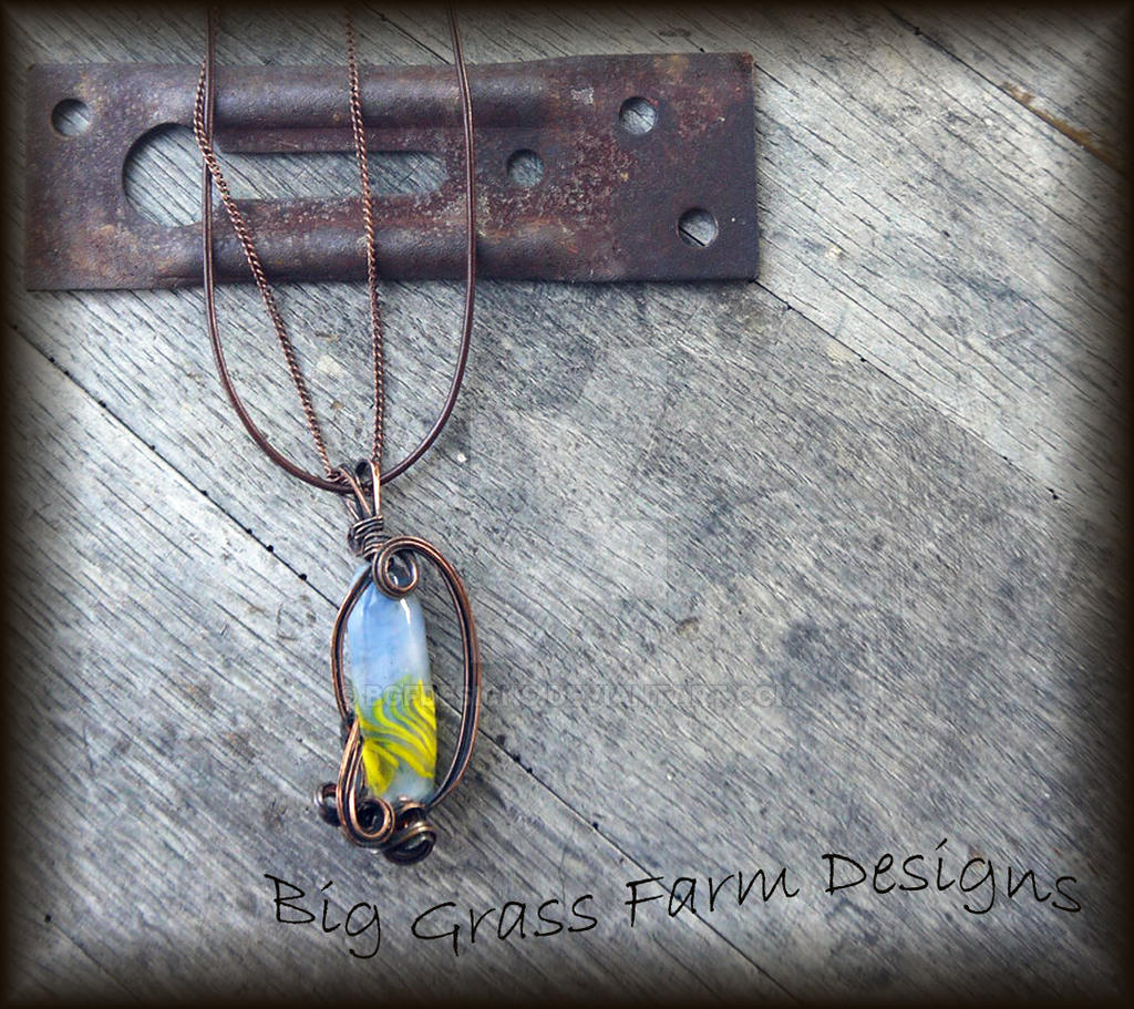 Lampwork Bead Necklace by bgfdesigns