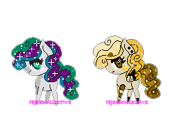Curly Glitter Twins (open) by FriendCollective