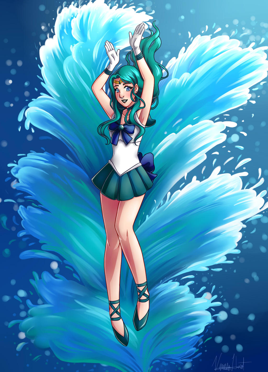 Sailor Neptune- Commission by varaa