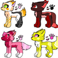 Free adopts #1 (open 1/4) by Starcattz