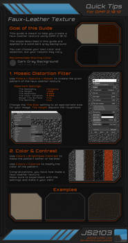 Guide: Faux-Leather Texture in GIMP 2.10.12