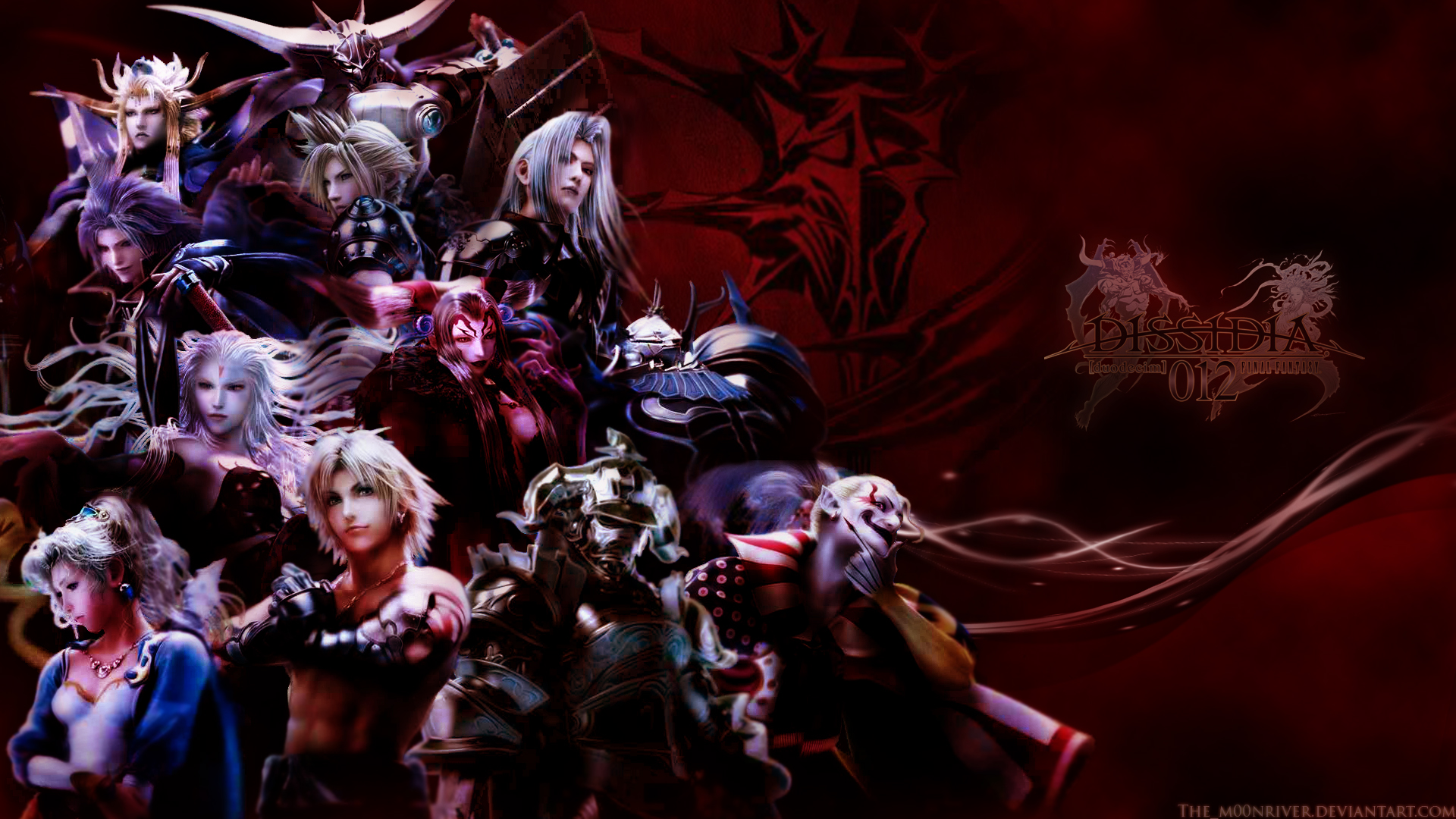 Dissidia 012 - Chaos warriors by The-m00nriver