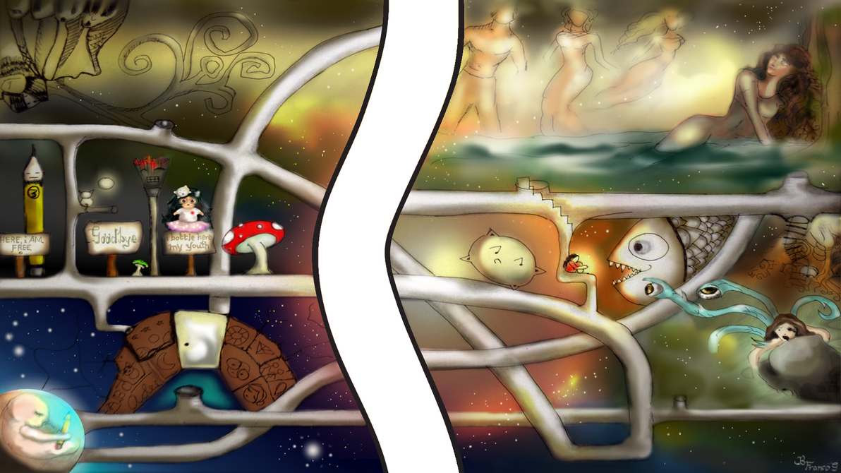 The Intergalactic Journey of My Imagination by puzzledpixel