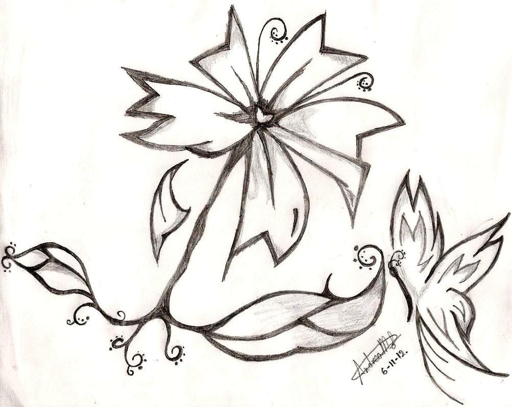 Flor Y Mariposa En Blanco Y Negro, Hope You Like By