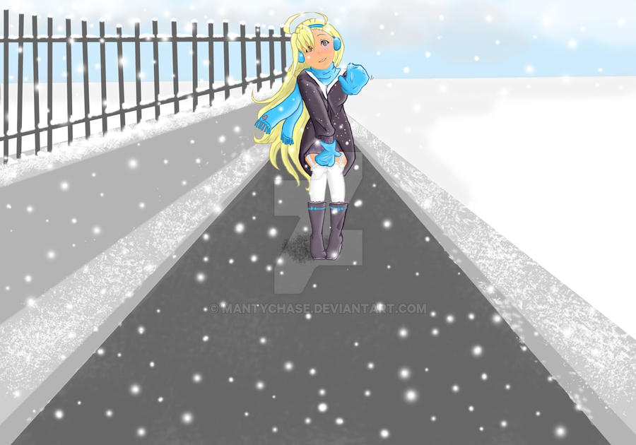 A snowy farewell- fanart by mantychase