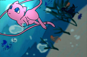 An Ocean's Ballad - Mew and Lapis Lazuli by halo20601