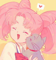 chibiusa and diana by 0-seven