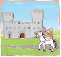 cardboard castle by clagot