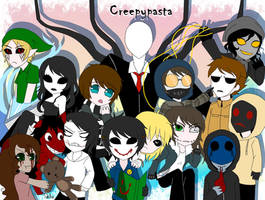 Creepypastas: Happy Halloween!!!! by DeluCat
