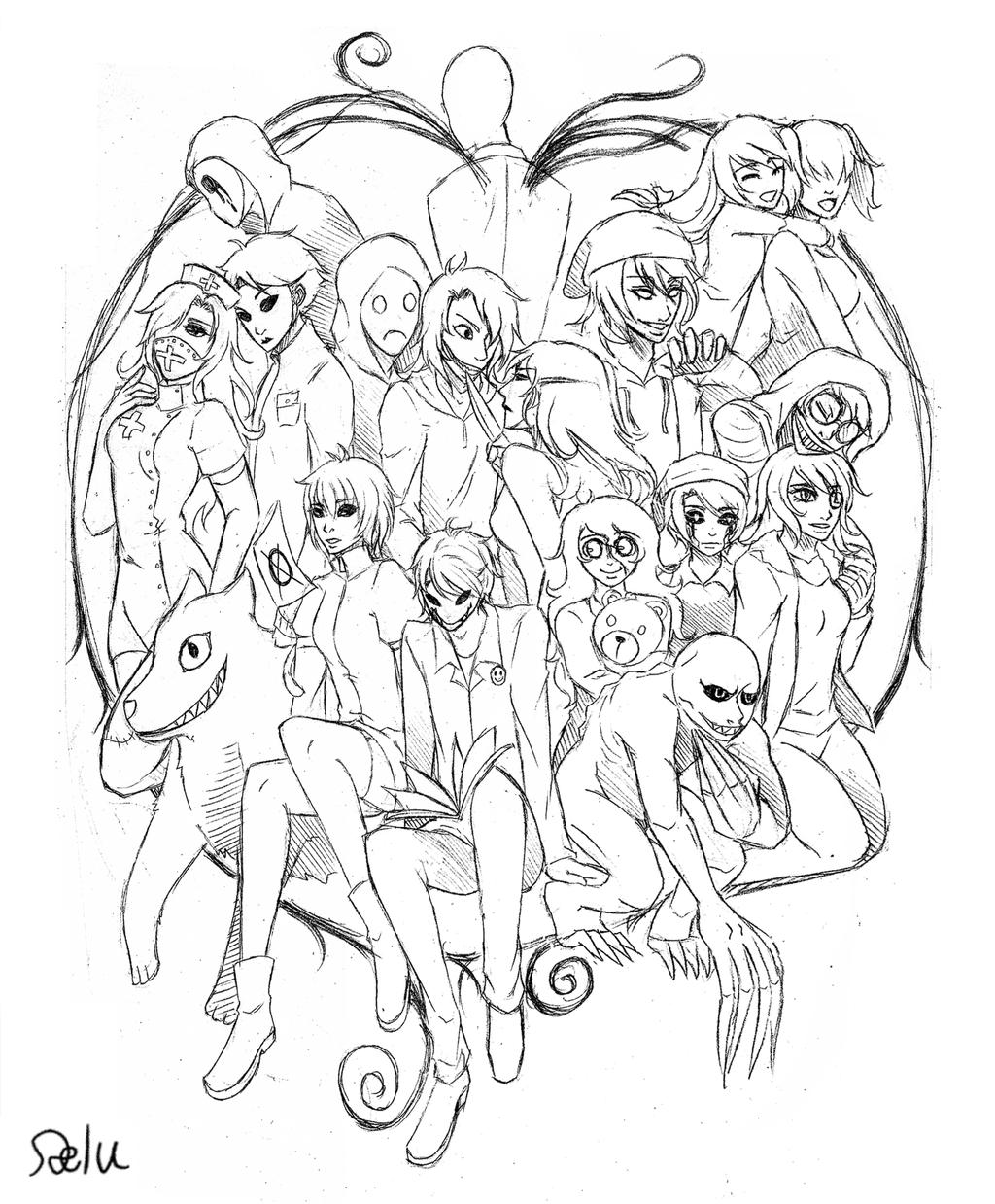 creepypasta coloring pages online - photo#34