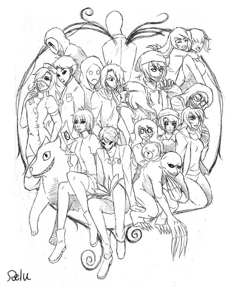 creepypasta coloring pages - pastas sketch by delucat on deviantart