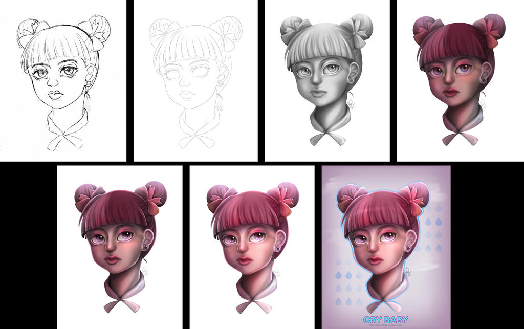 Grayscale Coloring WIP - Melanie Martinez CRYBABY by DeluCat on ...