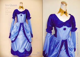 Adventure Time Ice queen Cosplay dress Tutorial by DeluCat