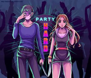 Party Hard Game- Fan Art by DeluCat