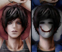 SAMPLE - Bloody Painter Dakimakura Pillow