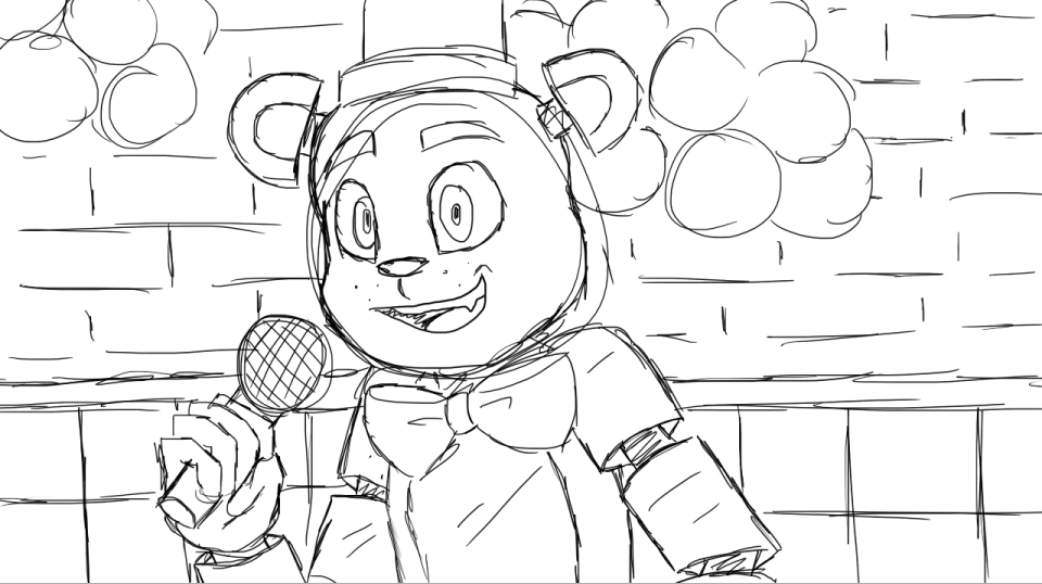 Color Freddy Fazbear - Worksheet & Coloring Pages