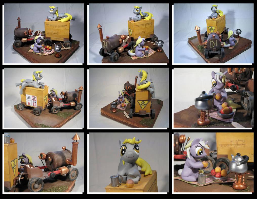 MLP - Derpy and Dinky 'Roadside picnic...' by Ksander-Zen