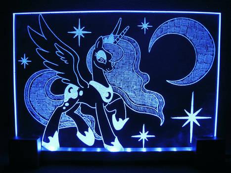 MLP - Princess Luna 2 (ENGRAVE+LED)