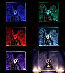 MLP - 'Nightmare moon' (ENGRAVE+LED SLD) by Ksander-Zen