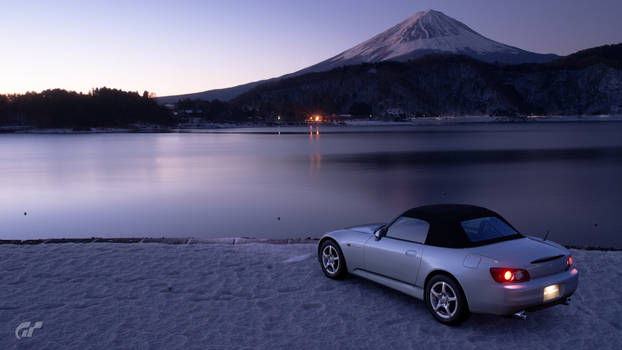 The view of Mount Fuji with Honda S2000