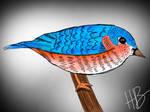 Bird on a branch Digital version
