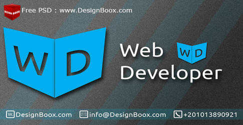 Web Developer Business Card Free PSD Template by DesignBoox