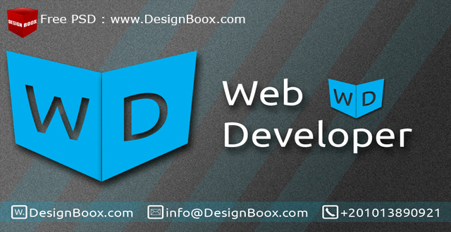 Web developer business card free psd template by designboox on web developer business card free psd template by designboox colourmoves