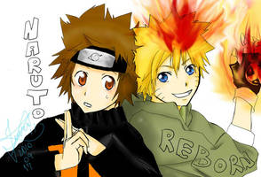 Tsuna and Naruto by Jessy-chan09