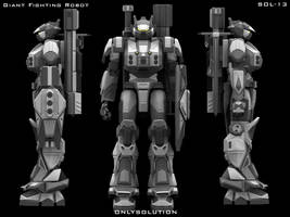 Giant Fighting Robot SOL-13 by onlysolution