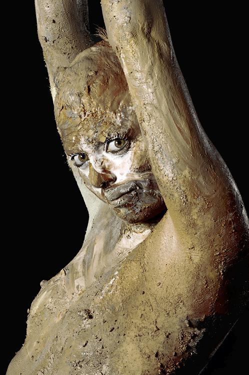 Muddy Woman At Glastonbury Festival Pilton Somerset Uk Europe ...