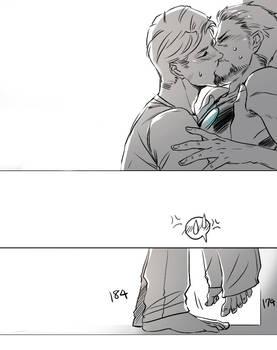 a LOVE kiss