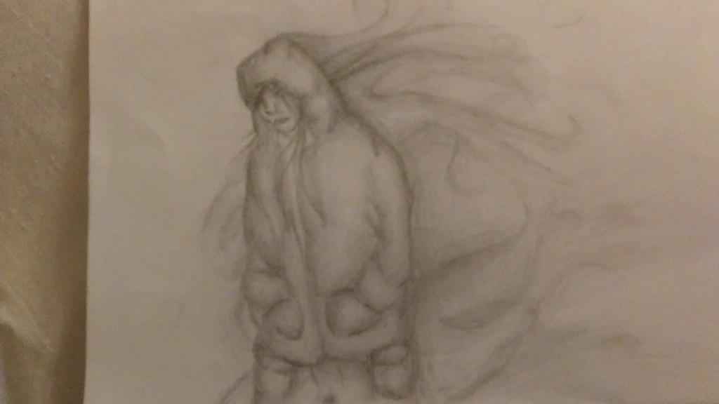 Hooded girl Sketch  by kangaroo722