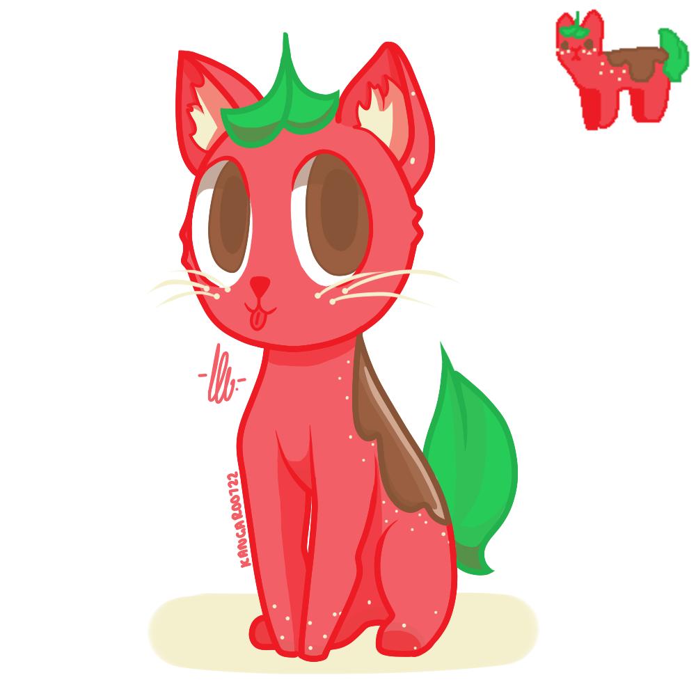 Strawberry Chocolate cat by kangaroo722