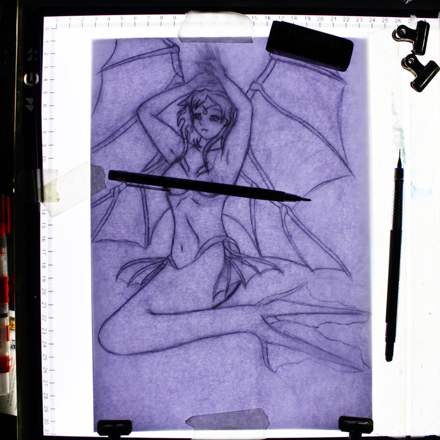 -Angelic Mermaid- Tracing by rxr1