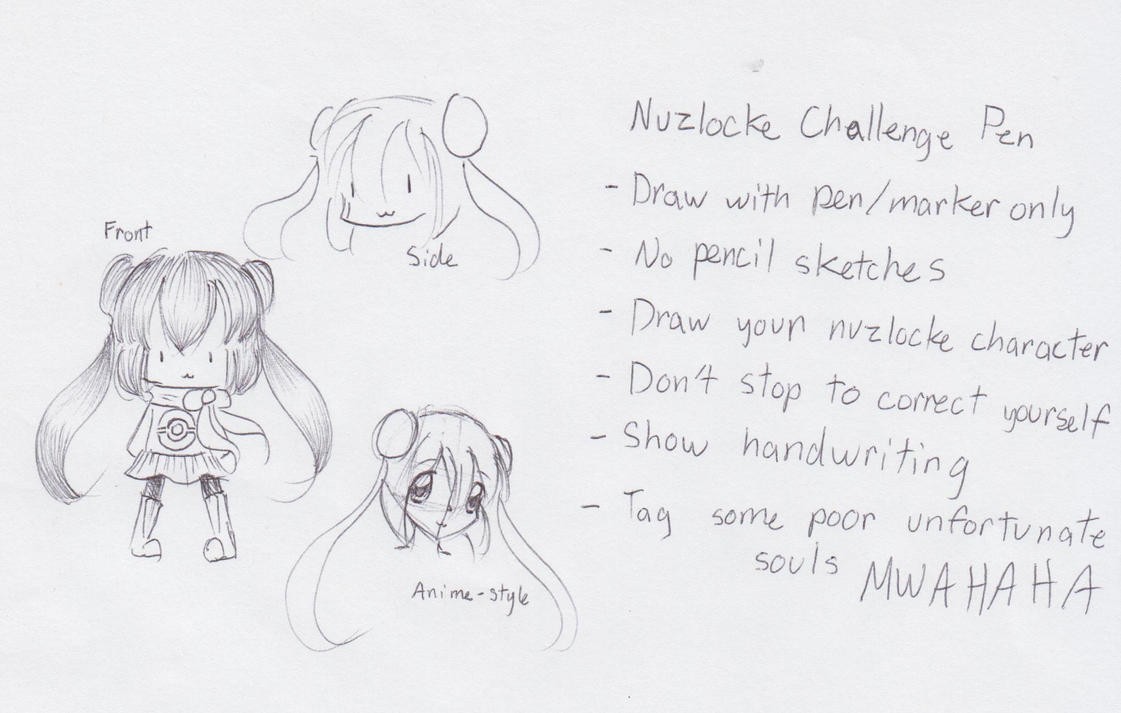 Nuzlocke Challenge Pen by kittystar123