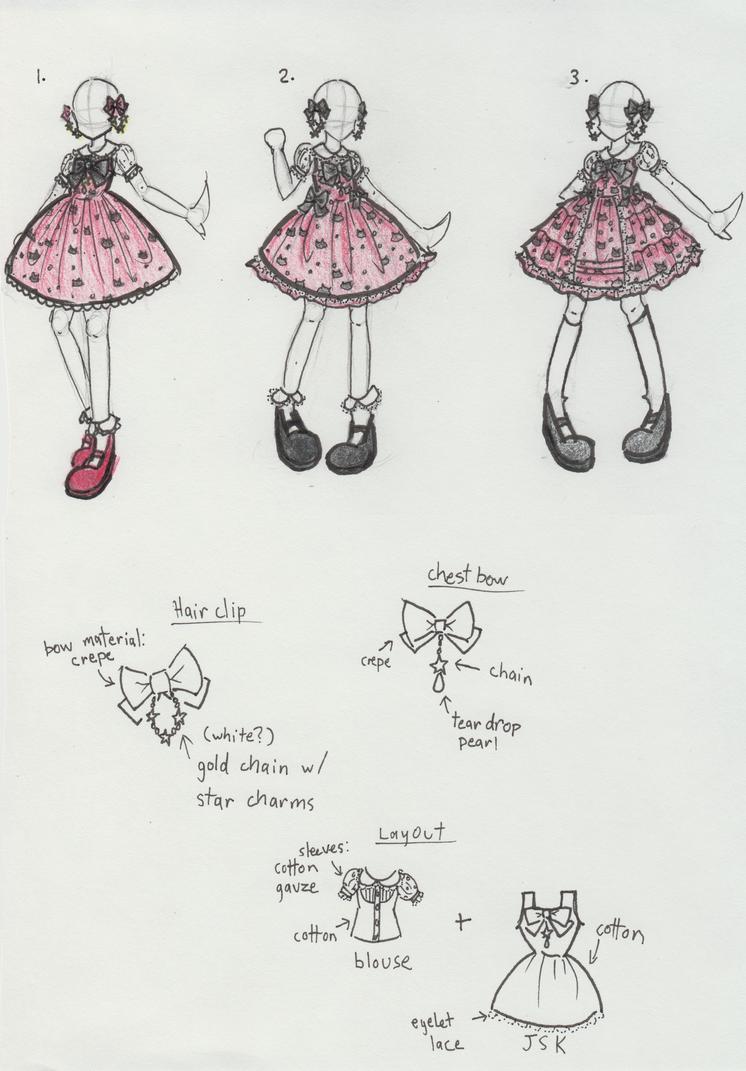 Ladybug-themed Lolita Fashion by kittystar123