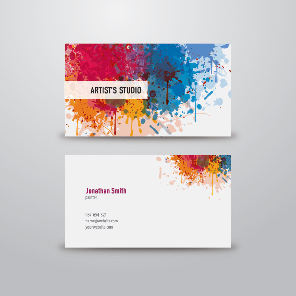 Artist business card by designworldwide for Painting artist business cards