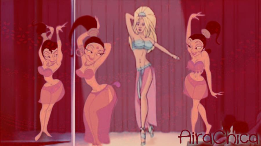 Women She belly dance erotica video scene!