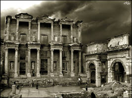 Celsus Library wallpaper by orcunceyhan